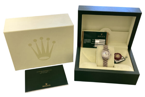 2009 Rolex president 179179 pink mop diamond dial for sale