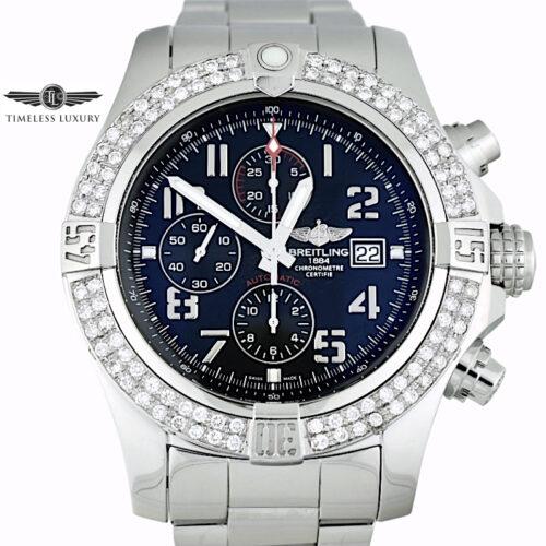Breitling Super Avenger II A13371 Diamond bezel