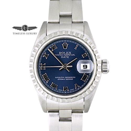 Ladies Rolex Date 79160 Blue roman dial