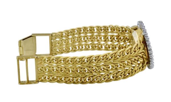Ladies Baume & Mercier 18k gold braided band