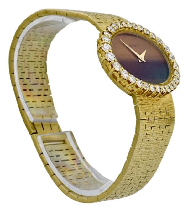 Ladies Piaget tiger eye dial diamond watch