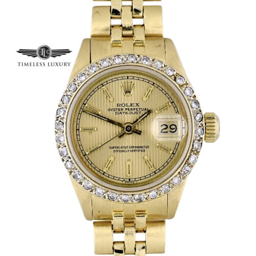 1979 Ladies Rolex President 6917 18k Gold 26mm