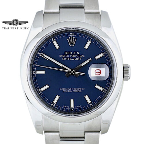 2008 Rolex Datejust 36mm 116200 blue dial