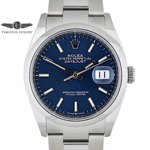 2021 Rolex Datejust 126200 Blue dial