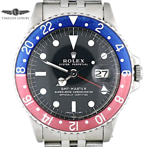 1972 Rolex GMT-Master 1675 pepsi bezel for sale