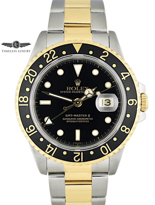 1991 Rolex GMT-Master II 16713 Steel & 18k Gold