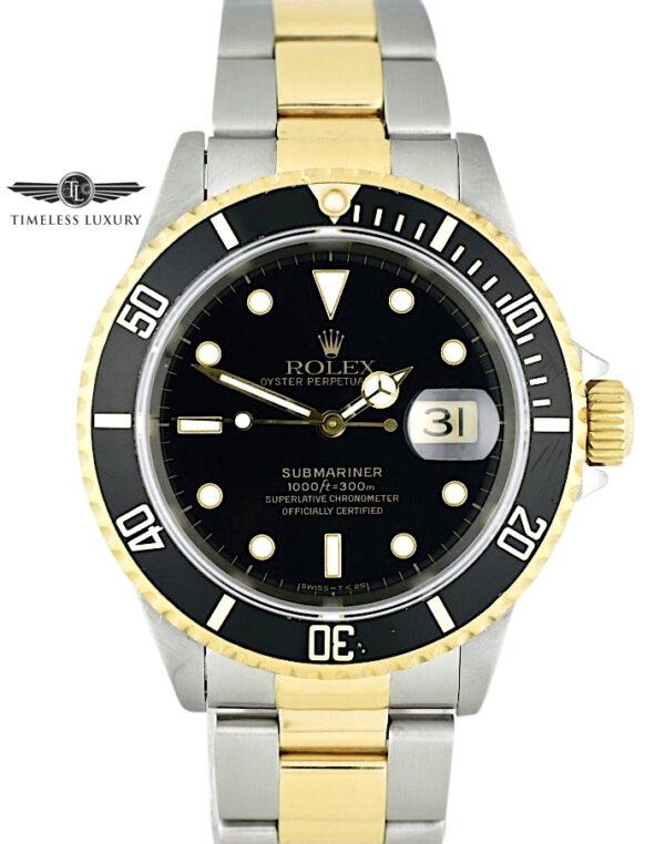1996 Rolex Submariner 16613 Black Dial