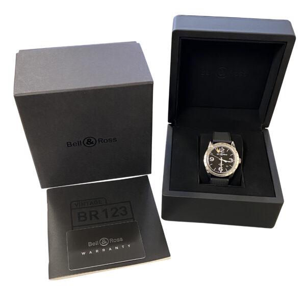 Bell & Ross Vintage GMT BRV123-BL-GMT For sale