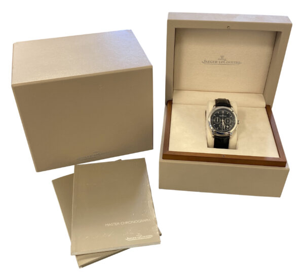 Jaeger LeCoultre Master Chronograph Q1538470 black dial