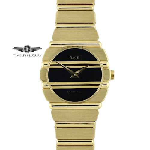 Piaget polo 861C701 yellow gold black dial 23mm