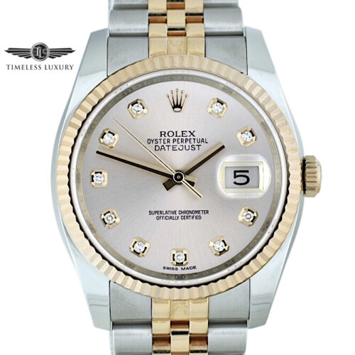 New Rolex Datejust 116231 pink diamond dial