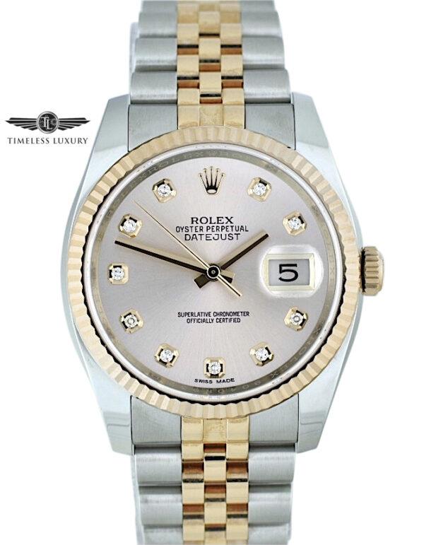 New Rolex Datejust 116231 pink diamond dial