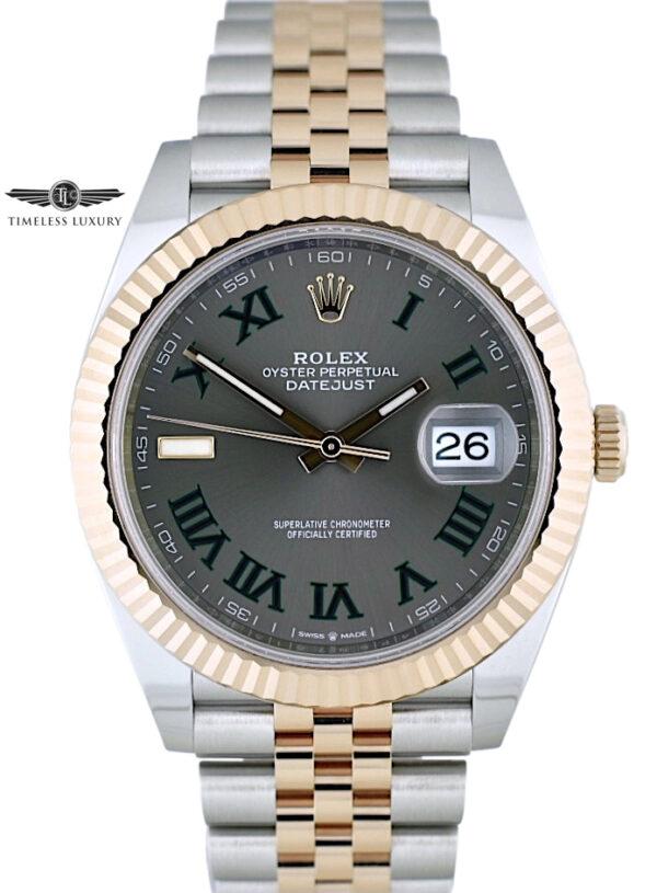 2020 Rolex Datejust 41mm 126331 Wimbledon Dial