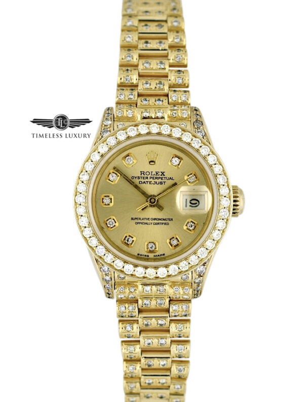 Ladies Rolex President 69178 Diamond watch