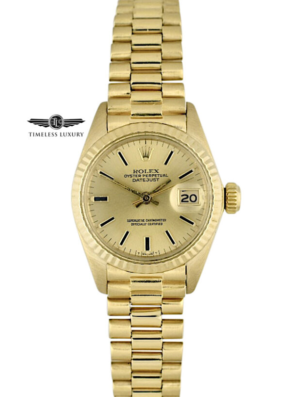 1981 Ladies Rolex President 6917 Champagne Dial