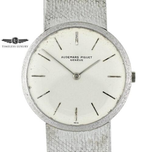 Vintage Audemars Piguet Ultra Thin 18k White Gold Watch