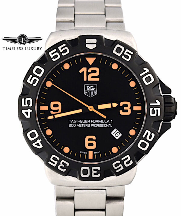 Men's TAG Heuer Formula 1 WAH1116 Black & orange dial