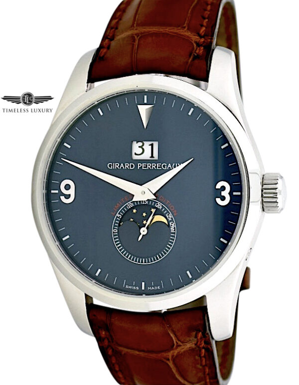 Girard Perregaux Classic Elegance 4953 blue dial moon phase limited edition