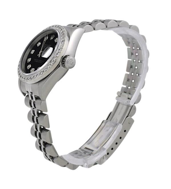 Ladies Rolex Datejust 26mm diamond bezel watch