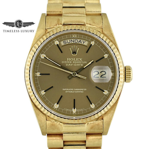 1985 Rolex Day-Date President 18038 bronze brown dial