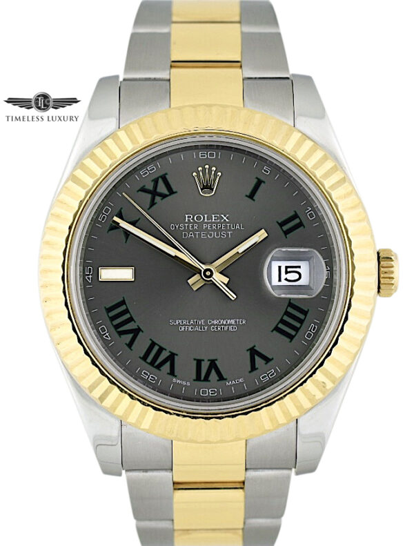 Rolex Datejust II 116333 Wimbledon Dial