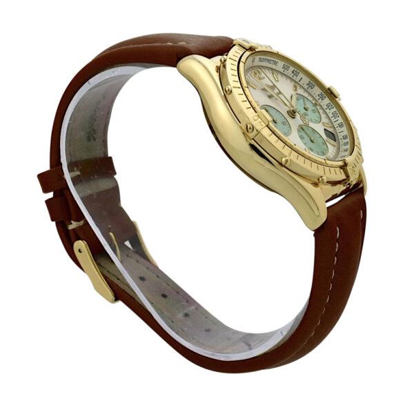 Breitling chronomat K30012 18k gold mop dial