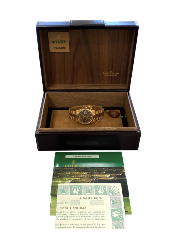 1985 Rolex Day-Date President 18038 Brown Dial for sale