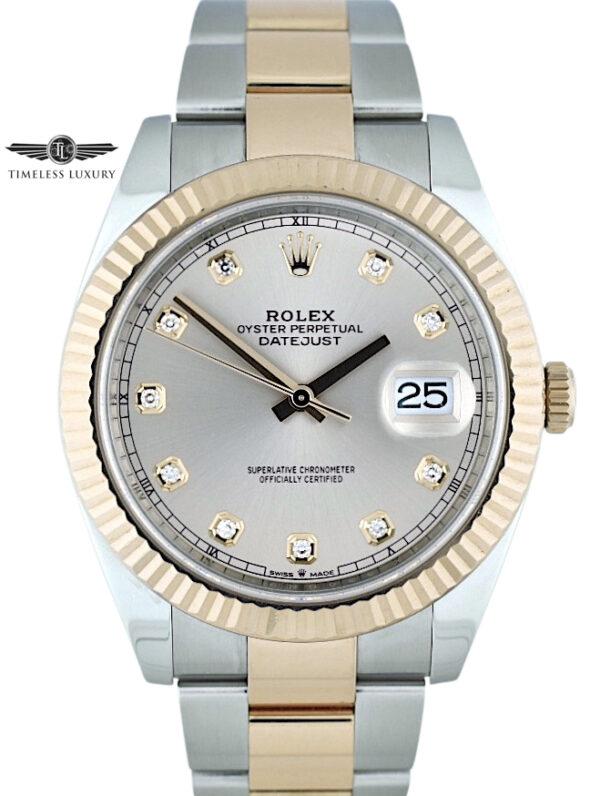 Rolex datejust 41mm 126331 sundust diamond dial