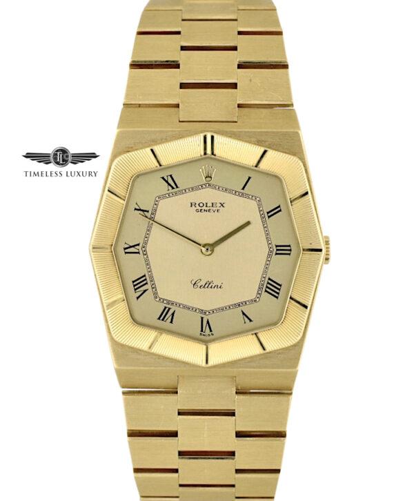 Vintage Rolex Cellini 4370 18k Yellow Gold