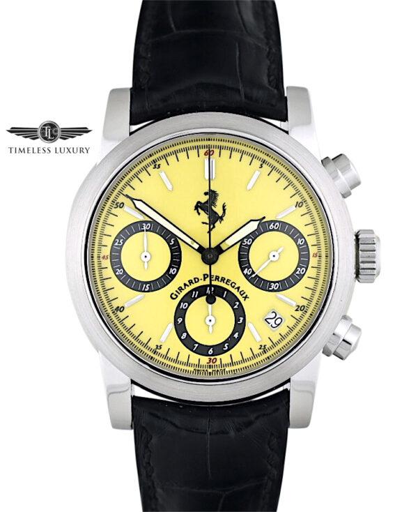 Girard Perregaux Ferrari Chronograph 8020 yellow dial