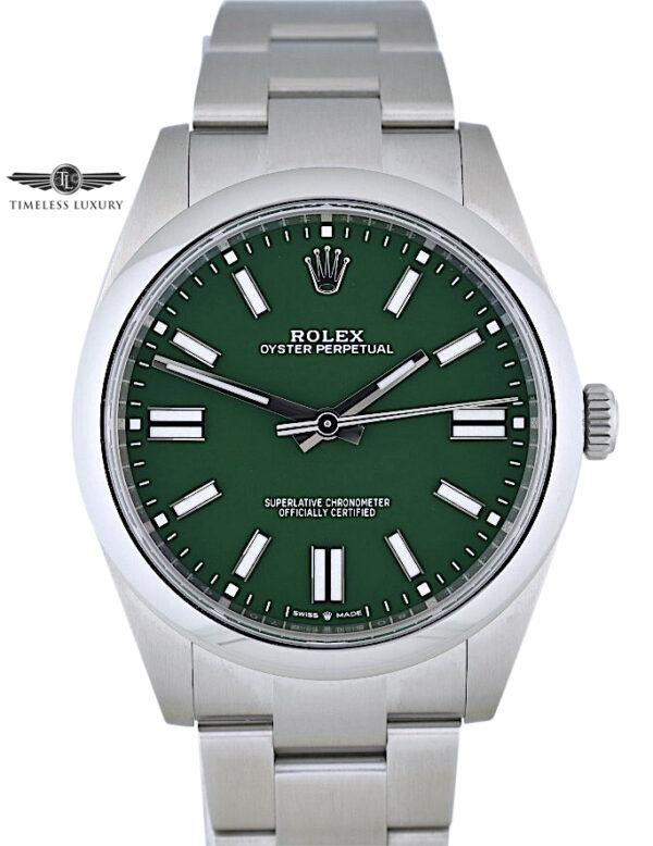 2020 Rolex 124300 Green dial