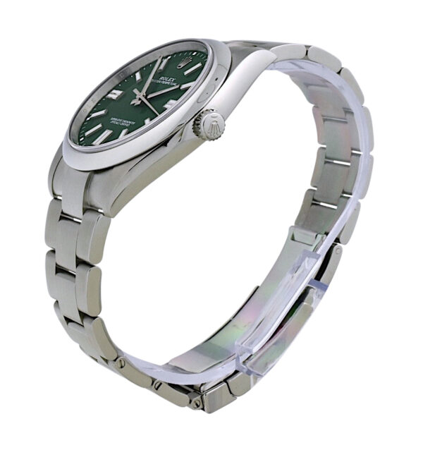 Rolex 124300 green dial for sale