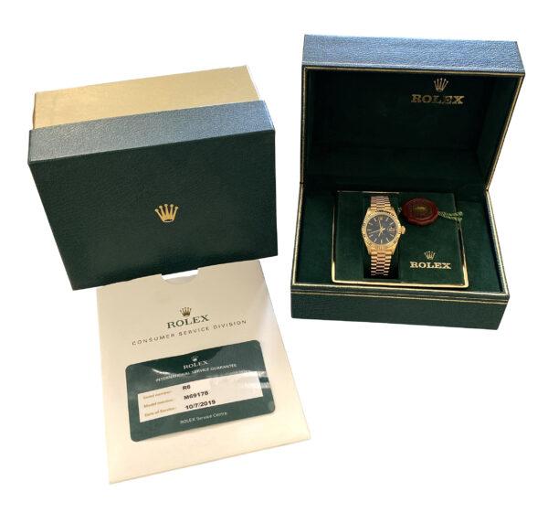Ladies Rolex President 69178 Blue dial for sale