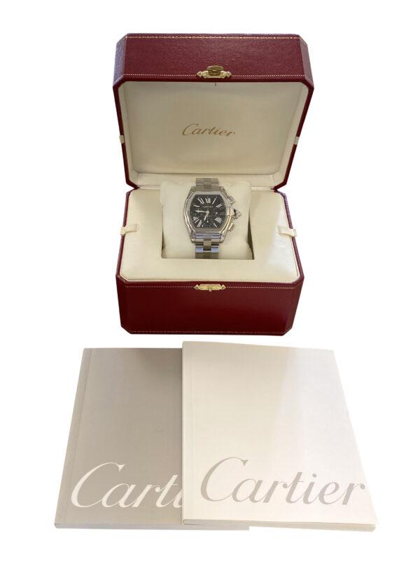 Men's Cartier Roadster XL Chronograph W62020X6 Black Dial Watch 2618 for sale