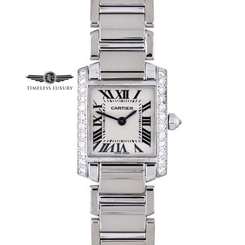 Ladies Cartier Tank Francaise 2403 white gold