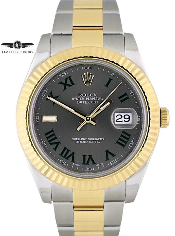 Rolex Datejust II 116333 Gray Wimbledon Dial