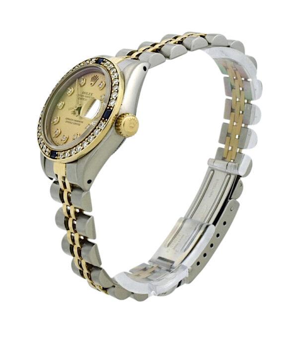 1984 Ladies Rolex Datejust 69173 Diamond & sapphire bezel