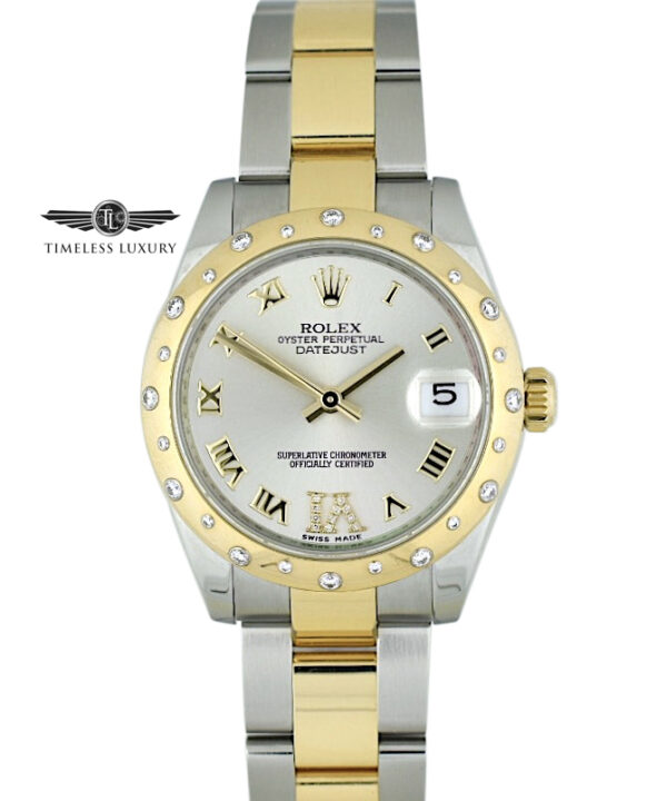 Ladies Rolex Datejust 178343 scattered diamond bezel