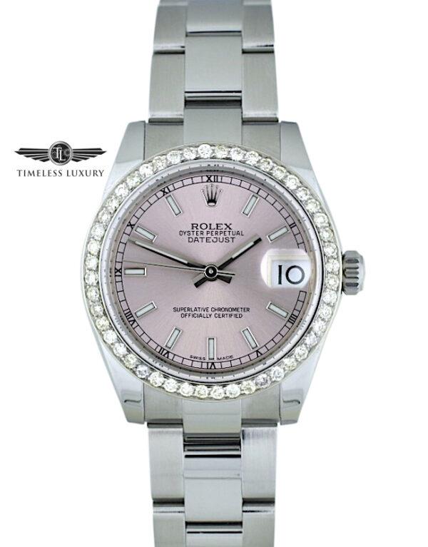 Ladies Rolex Datejust 31mm 178240 pink dial