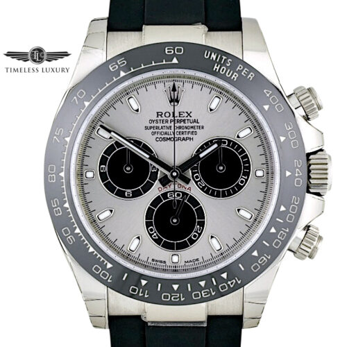 Rolex Daytona 116519LN Steel Dial white gold