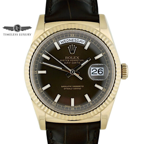Rolex Day-Date President 118135 Chocolate dial