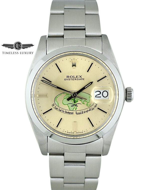 Rolex Oysterdate Saudi Fund For Development Logo Dial