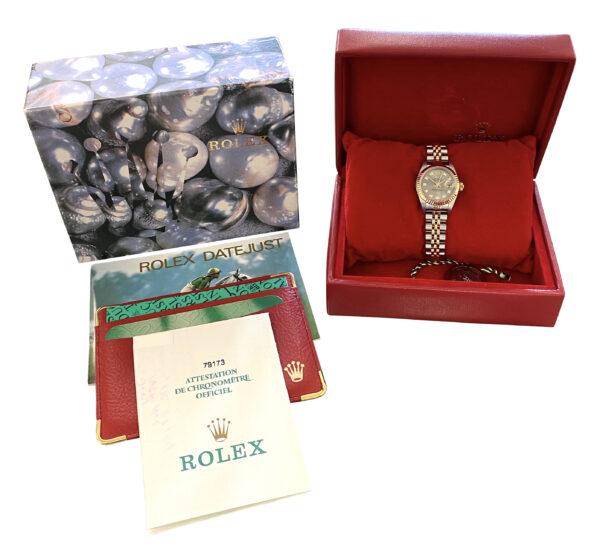 2001 Ladies Rolex Datejust 179173 slate diamond dial for sale