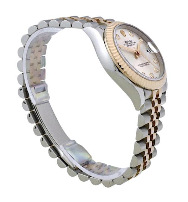 Rolex datejust 278271 silver diamond dial