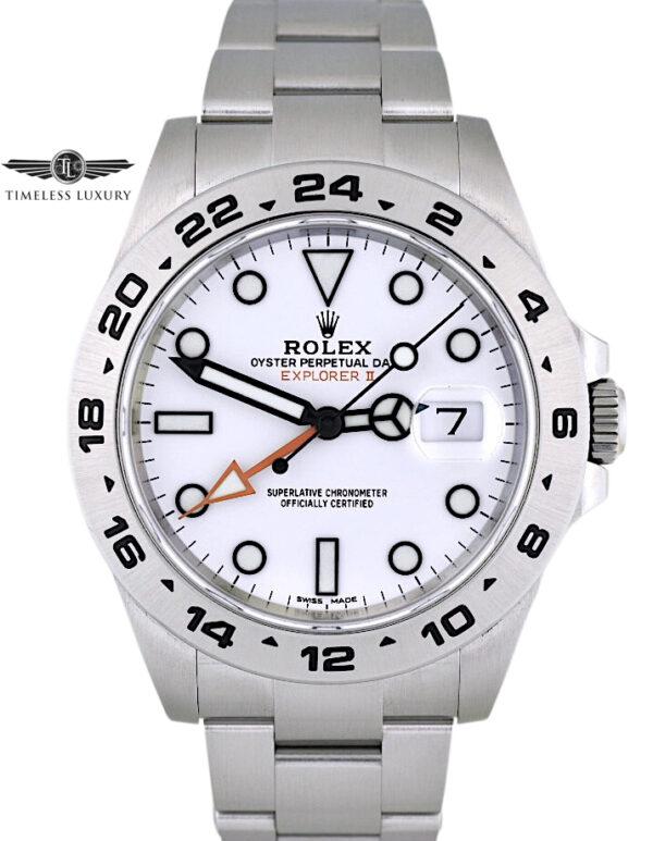 2020 Rolex Explorer II 216570 White dial