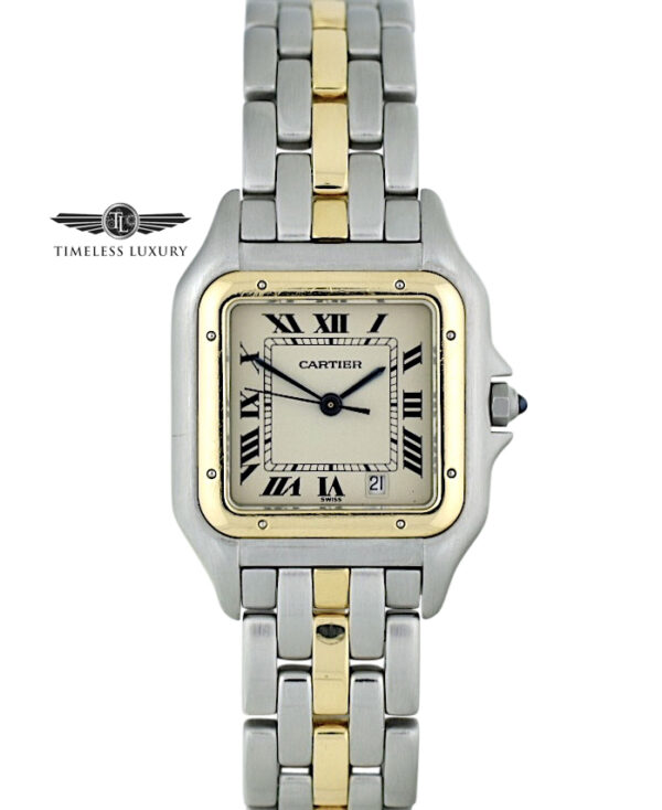 Ladies Cartier Panthere Midsize 27mm steel & gold