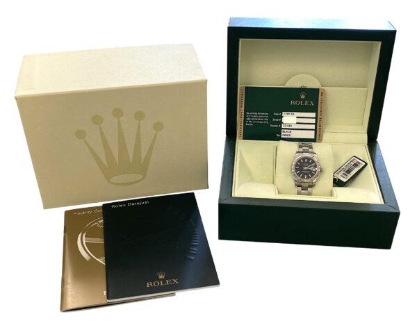 2009 Ladies Rolex Datejust 179174 Black Dial For sale