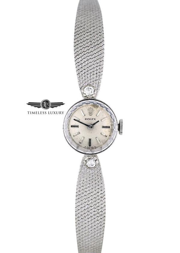 Ladies Rolex Cocktail watch 14k white gold diamond band