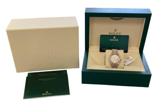 Ladies Rolex datejust 278271 Silver diamond dial for sale