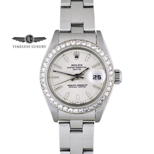Ladies Rolex Datejust 69160 Diamond bezel watch